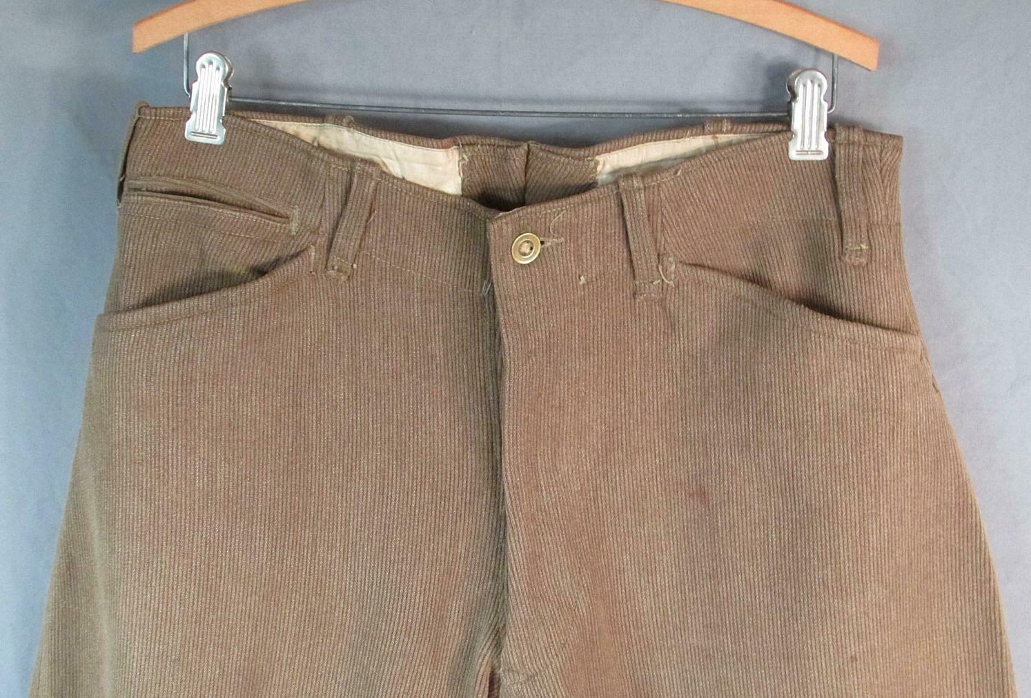 Vintage 1910s Wool Whipcord Riding Pants WWI Mili… - image 2