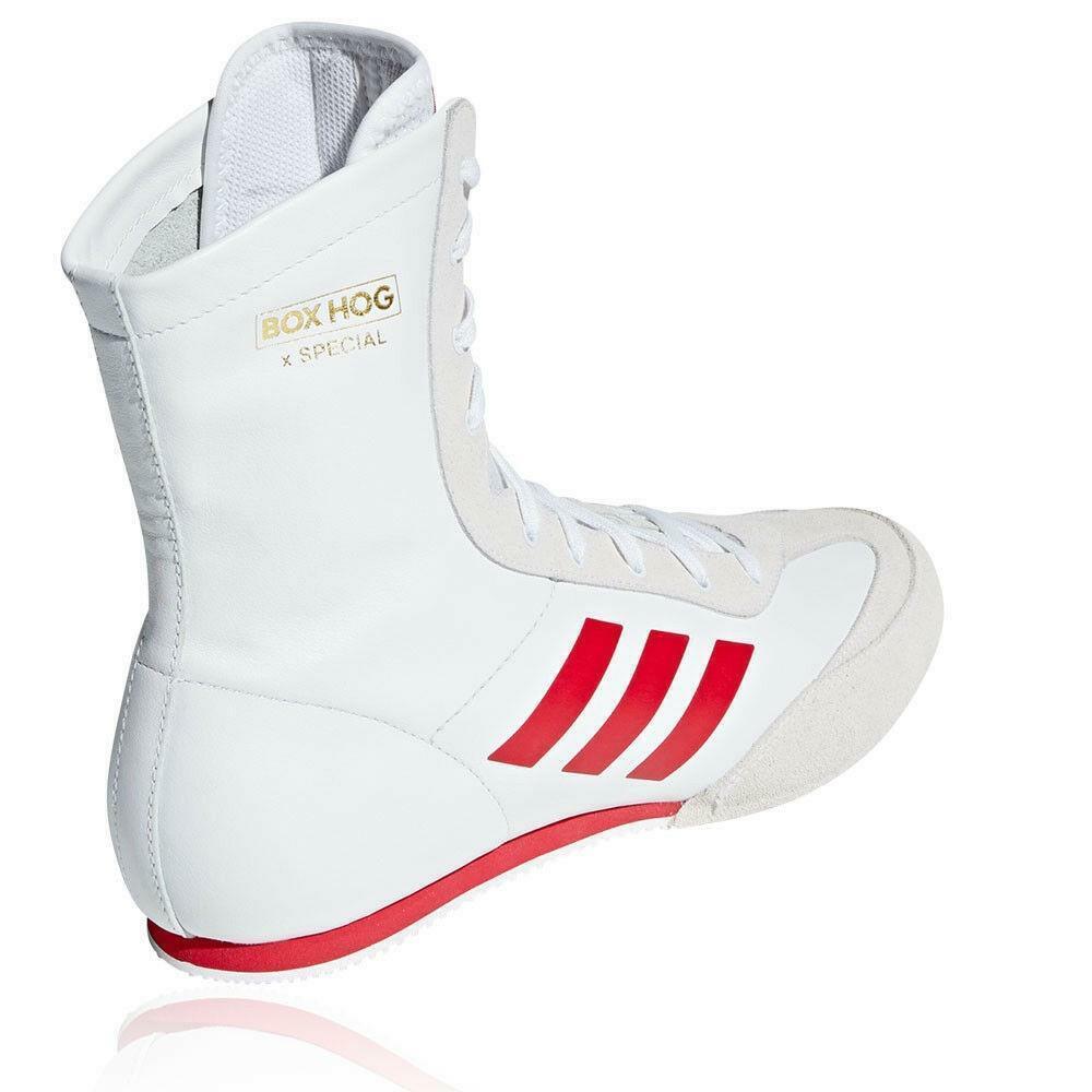 Adidas Box Hog PUGILATO SPECIALE Stivali Scarpe Da Ginnastica Per Adulti SPARRING BOXE Tg UK