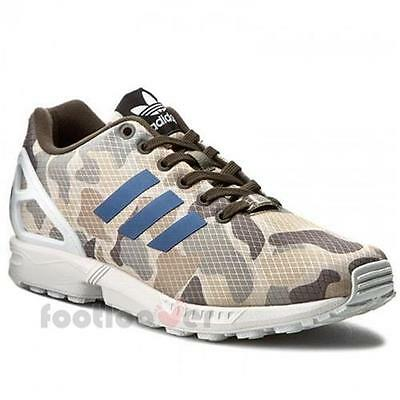 Schuhe Adidas Originals ZX Flux bb2174 Running Herren Sneakers Camo Sand White V