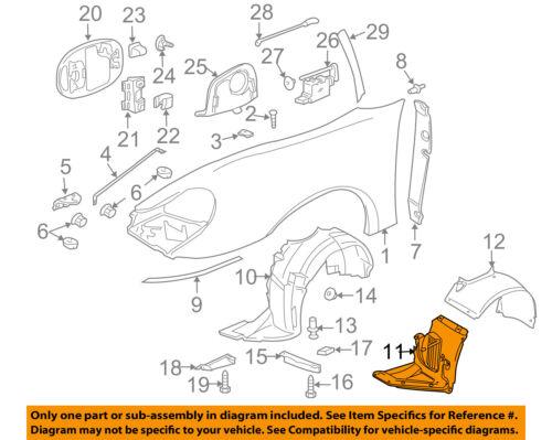 PORSCHE OEM 02-05 911-Front Fender Liner Splash Shield Left 99650412300