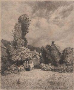 Theophile-Narcisse-Chauvel-A-Saint-Jean-le-Thomas-Eau-forte-originale-XIXe
