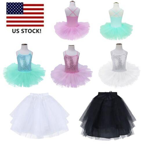 Girls Kids Ballet Tutu Dress Toddler Leotard Gymnastics Ballerina Dance Costume