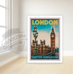 Art Deco Travel Posters Lovely Vintage Retro Holiday Tourism *Unique London City