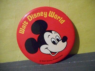 "Disney world  souvenir button pinback 1st Visit classic Disney 3/"" badge pin Walt"