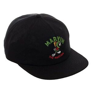Image is loading Looney-Tunes-Marvin-The-Martian-Black-Adjustable-Buckle- fc33c22d94