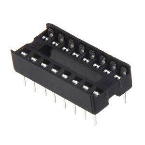 New-30Pcs-Practical-Plastic-16-Pin-2-54mm-DIP-IC-Socket-Solder-Type-Adaptors-DT