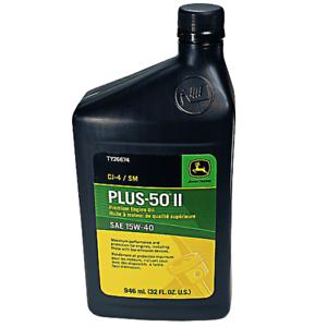 Details about John Deere Original Equipment Plus-50 II Oil 15W40 CK4/SN  #TY26674