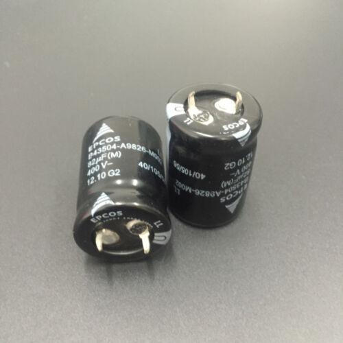 1pcs 82uF 400V EPCOS B43504 22X30mm Low ESR High Reliability 400V82uF capacitor