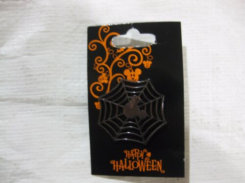 Rare Disney Pin Happy Halloween Mickey Icon Spider Web Walt Disney World  pin283