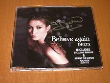 DELTA GOODREM - * SIGNED * BELIEVE AGAIN CD SINGLE AUSTRALIA 5 TRACKS