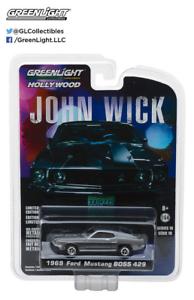 John-WICK-2014-1969-Ford-Mustang-Boss-429-Greenlight-SCALA-1-64