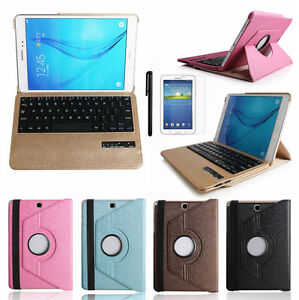 "Bluetooth Keyboard Rotate Leather Case For Samsung Galaxy Tab A 10.1"" T580 T585"