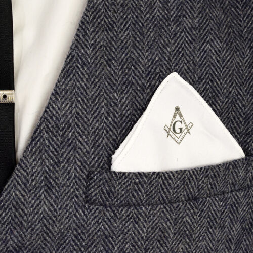 Masonic Compass /& Square With G Pocket Square  XPS009-G