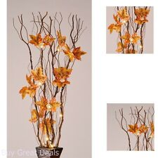 Home Party Decor Night Light Warm White 36In 16 LED Wood Twig Branch Maple Leaf