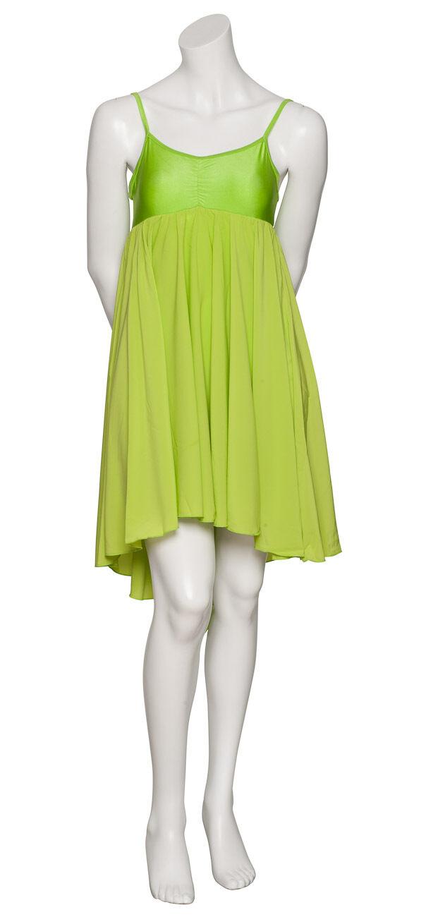 Damen Mädchen Limettengrün Einfarbig Einfarbig Einfarbig Lyrisch Kleid Zeitgenössisch Ballett Tanzen 29d064