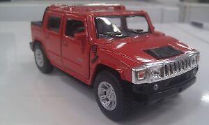 2005-Hummer-H2-SUT-ROSSO-KINSMART-modello-giocattolo-1-40-Scala