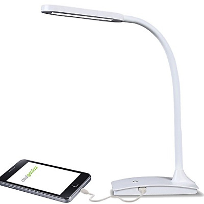 LED Lighting Ivy Office Computer Table Desk Lamp With USB Charging Port white
