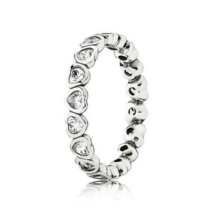 0873bf6c4693e Details about New Authentic Pandora Silver 925 Forever More Ring 190897CZ  Size 6/52 w/ BOX