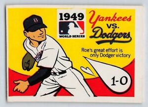 Details About 1971 Fleer 1949 World Series Game Baseball Card 47 Yankees Vs Dodgers