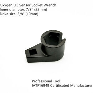 """7//8inch 22mm Offset Oxygen O2 Sensor Socket Wrench Removal Tool 3//8/"""" Drive NEW"""