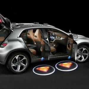 Details about LED Car Door Super Projector Courtesy Light - Battery Powered  - Set of 2