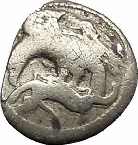 AKRAGAS-in-SICILY-420BC-Eagle-Hare-Crab-Fish-Silver-Greek-Coin-RARE-R1-i54066