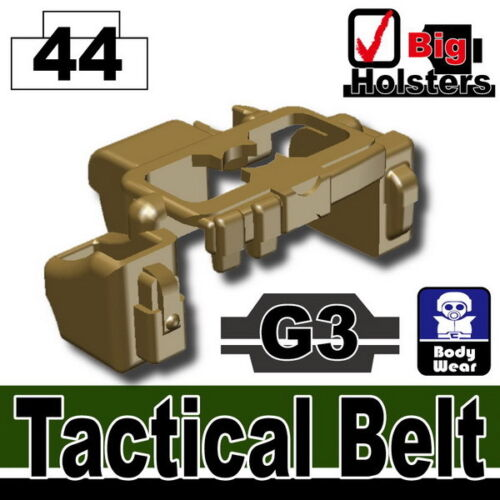 Dark Tan G3 Tactical Belt Army Police SWAT for LEGO military minifigures