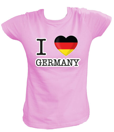 Deutschland Germany Allemagne D Fußball Soccer Damen T-Shirt I LOVE DG