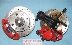 FIAT-500-F-L-R-126-KIT-FRENI-A-DISCO-ANTERIORI-COMPLETI-RUOTE-DA-12-13-POLLICI