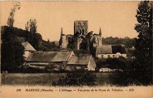 CPA-Hambye-L-039-Abbaye-Vue-prise-de-la-Route-de-Villedieu-633059