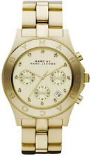 Marc Jacobs MBM3101 Blade Gold Dial Gold Tone Chronograph Women's Watch