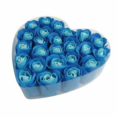 24 PcsScented Rose Flower Petal Bath Body Soap Wedding Party Gift S*