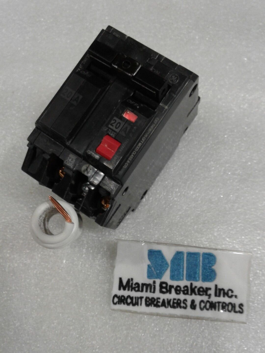 Ge Thqb2120gft Circuit Breaker 20 Amp 240 Volt 1 Phase Ebay Industrial Thql1120afp2 Arc Fault At Norton Secured Powered By Verisign