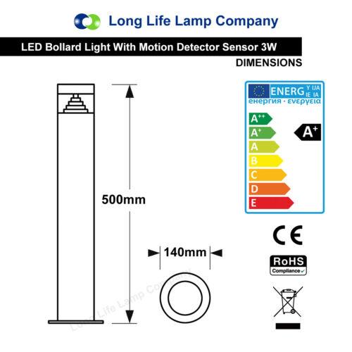 Modern LED Bollard Garden Lamp Post Stainless Steel Outdoor Pathway Drive Light