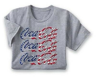 COCA COLA YOUR FAVORITE LOGO PATRIOTIC T-SHIRT 4TH OF JULY/NEW YEARS NEW IN PKG.
