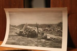 WWII-ca-1944-Photo-3-25x4-5-Crashed-Japanese-Mitsubishi-G3M-Nell-Bomber-Plane