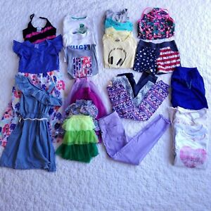 Girls-Clothes-Lot-Size-10-Summer-Fall-Justice-Under-Armour-OshKosh-Cat-amp-Jack