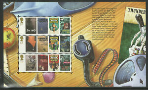 GB-2008-James-Bond-Prestige-Stamp-Booklet-Pane-3-ex-DX41-MNH