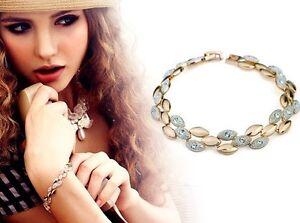 Olivia-Cascade-Olive-shape-Crystal-Paved-Polished-Bracelet-Gold-or-Silver-or-Mix