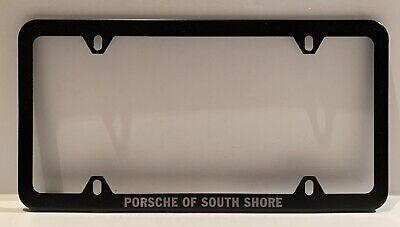 Porsche Of South Shore Black Metal License Plate Frame New Ebay