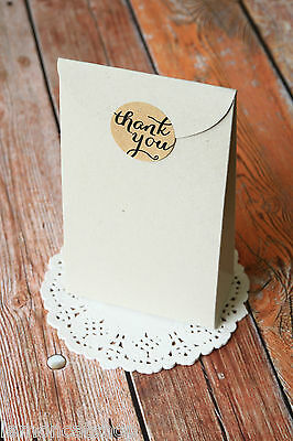 LARGE Taper Top Box 5pc Wedding Favour eco friendly recycled shabby chic vintage