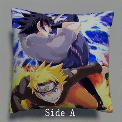NARUTO Sasuke Anime Manga two sides Pillow Cushion Case Cover 383