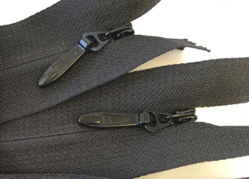 "24/"" Long Black 1 Zipper Invisible Zipper Heavy Duty #5 or 5mm"