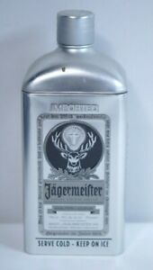 Collectable Jagermeister Silver Tin Aluminum Bottle Holder Packaging 750ml Size
