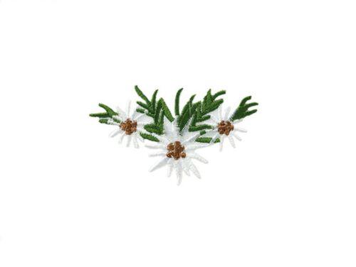 1 aufbügelmotiv ♥ Patch ♥ Edelweiss flores 3 ♥ aufbügler ♥ aplicación Nuevo