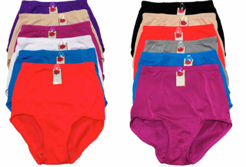 Women/'s High-Rise Girdle Panties in Regular and Plus Sizes 6-Pack #349Lacy