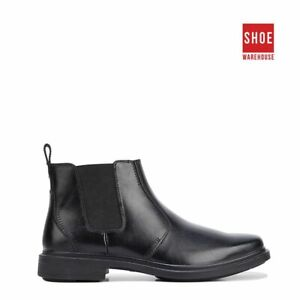 Hush Puppies DEACON Black Mens Ankle Boot Dress/Formal Leather Boots