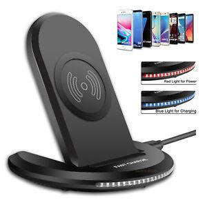 Qi-rapido-cargador-inalambrico-Soporte-Para-iPhone-X-8-Plus-Samsung-S9-S8-Note8