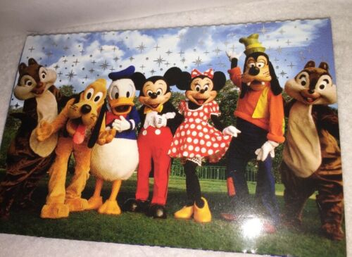 NEW Disney Parks 10 Deluxe Postcards Mickey Mouse /& Friends Cast Characters