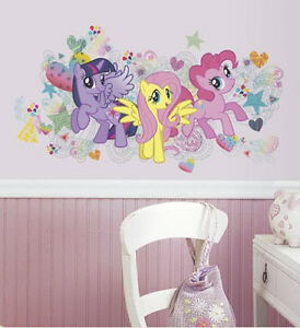 My Little Pony Wall Sticker 6 Decals Mural Party Decor Horse Mlp